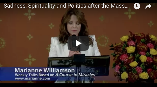 Sadness, Spirituality and Politics after the Massacre in Las Vegas | Marianne Williamson