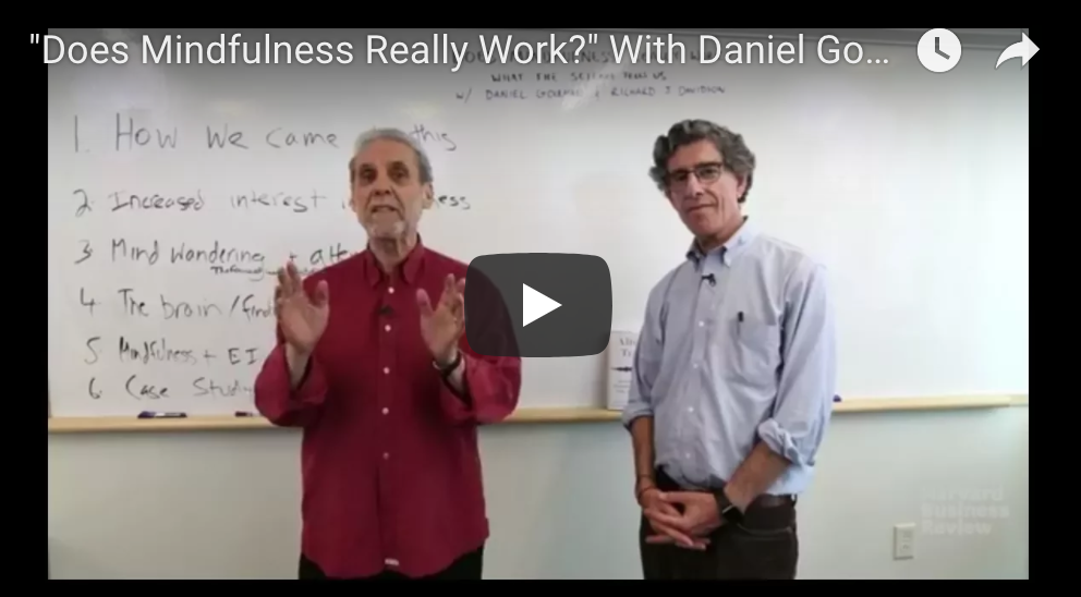 Does Mindfulness Really Work? With Daniel Goleman and Richard Davidson
